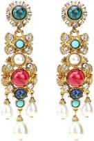 Ben-Amun Byzantine Pearl Embellished Earrings