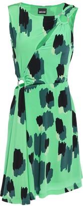 Just Cavalli Ring-embellished Cutout Printed Jersey Mini Dress