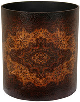 Oriental Furniture Olde-Worlde Leather Trash Can