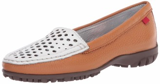 Marc Joseph New York Women's Leather Made in Brazil Luxury Golf Shoe with Verporated Vamp