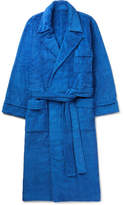 Anderson & Sheppard - Cotton-terry Robe - Blue