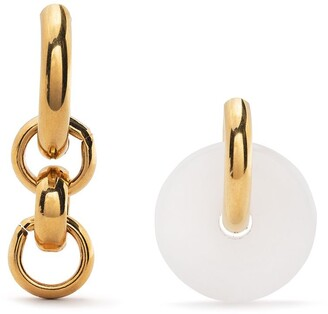 Timeless Pearly Chain And Donut Mismatched Earrings