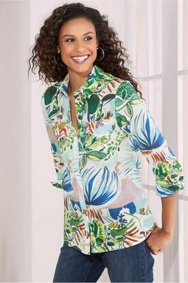 Soft Surroundings Women Tropicana Shirt