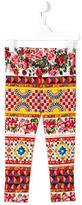 Dolce & Gabbana Mambo print leggings - kids - Cotton/Spandex/Elastane - 4 yrs
