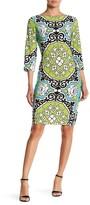 London Times T2516MJC Floral Damask Sheath Dress