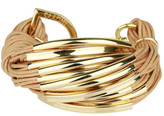 Saachi Nude Gold Bar String Bracelet