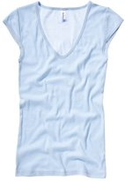 B.ella Bella+Canvas Sheer mini rib v-neck t-shirt M