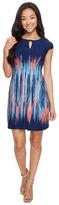 Tahari by Arthur S. Levine Petite Jersey Cap Sleeve Sheath Dress