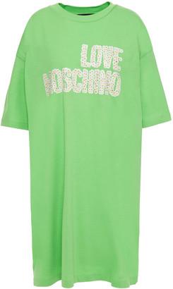 Love Moschino Printed Cotton-jersey Mini Dress