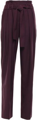 Victoria Victoria Beckham Wool-blend Pique Wide-leg Pants