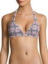 Asceno Printed Halter Bikini Top
