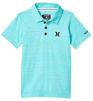 Hurley Streaky Polo Shirt (Little Kids) (Aurora Green) Boy's Clothing