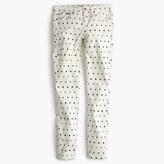 J.Crew Petite toothpick jean in mini star print