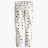 """J.Crew Tall 8"""" toothpick jean in mini star print"""