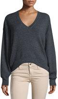 IRO Willy V-Neck Wool Sweater, Anthracite