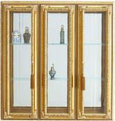 Horchow Golden Three-Panel Vitrine