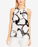 Vince Camuto Printed Pleated Top