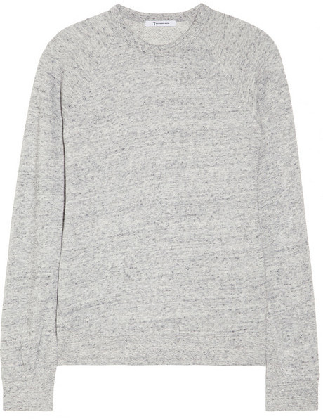 Alexander Wang Cotton-blend French terry sweatshirt