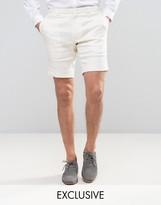 Noak Skinny Shorts In Linen
