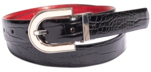 INC International Concepts Inc Embossed Reversible Belt, Created for Macy's