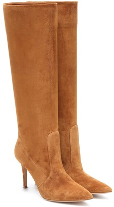 Gianvito Rossi Susan 85 suede knee-high boots