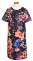 adidas Girl's Rose Print T-Shirt Dress