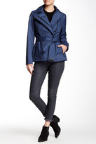Kenneth Cole New York Printed Belted Rain Coat