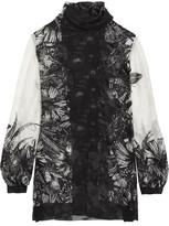 Anna Sui Butterfly Garden Printed Silk-Blend Jacquard Blouse