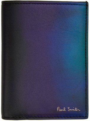 Paul Smith Black and Blue Gradient Bifold Card Holder