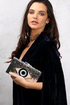 Rare Blue Multi Glitter Eye Clutch Bag