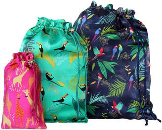 Sara Miller - Set of 3 Travel Bags - Tropical Mixed