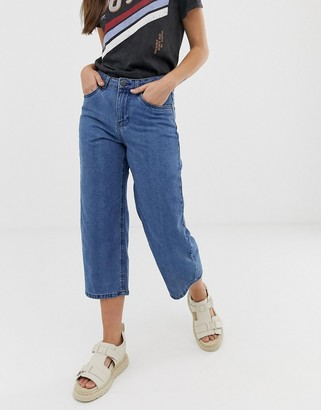 Noisy May wide leg cropped jean