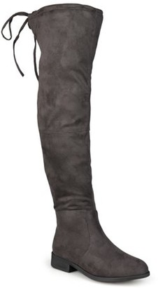 Brinley Co. Women's Faux Suede Over-the-knee Boots