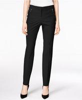 Alfani Petite Zip-Pocket Skinny Ankle Pants, Only at Macy's