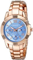August Steiner Women's AS8143RGBU Rose Gold Quartz Watch with Blue Dial and Rose Gold Bracelet
