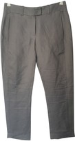 Ann Demeulemeester Grey Linen Trousers for Women