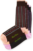 Robert Graham Two-Pair Square-Print Sock Set