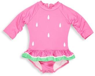 Florence Eiseman Baby Girl's One-Piece Watermelon Skirted Rashguard
