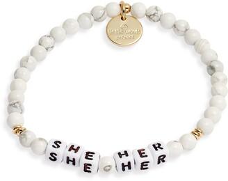 Little Words Project She/Her Stretch Bracelet