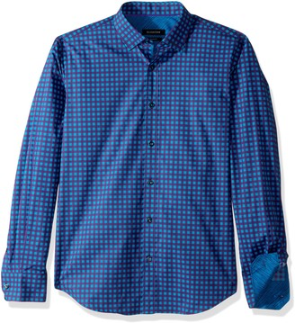 Bugatchi Men's Cotton Slim Fit Regular Placket Button Down