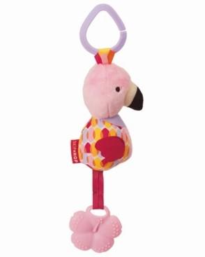 Skip Hop Bandana Buddies Chime Teether Toy - Flamingo