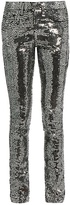 Saint Laurent Sequin-embellished skinny jeans