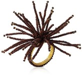 Kim Seybert Wood Spider Bead Burst Napkin Ring