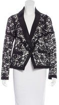 Chanel Lace Button-Up Blazer