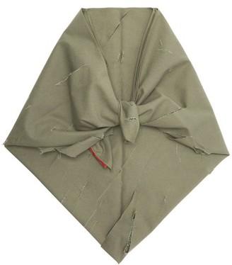 Art School Distressed Cotton Headscarf - Khaki