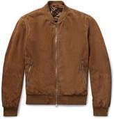 Hackett Mayfair Suede Bomber Jacket