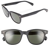 Oliver Peoples Men's 'Masek' 51Mm Retro Sunglasses - Black