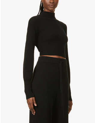 Reformation Osteria open-back recycled cashmere-blend jumper
