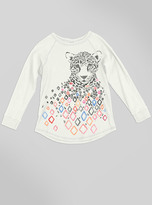 Junk Food Clothing Kids Girls Cheetah Raglan-sugar-xs