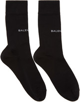 Balenciaga Black Logo Socks